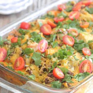 Overnight Mexican Breakfast Casserole.
