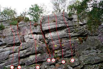 Photo: Secteur Négresses vertes à gauche de la grande fissure et Gastéropodes à droite