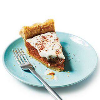Sweet Potato Pie with Spiced Cream Topping