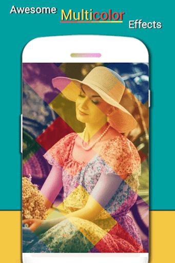 多色の写真効果