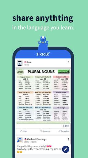 Ziktalk- Learn from native speakers ss2