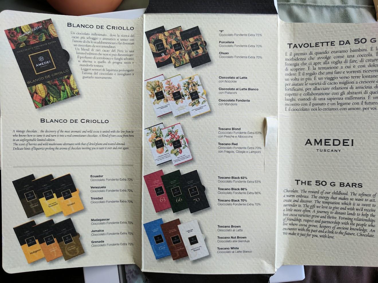 70% amedei blanco criollo bar packaging