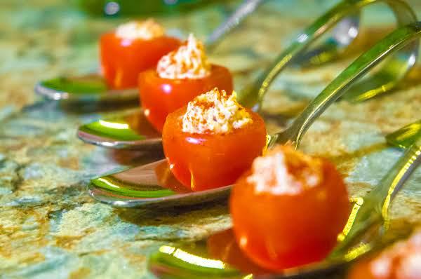 Spiced Cream Cheese & Prosciutto Cherry Tomatoes Recipe