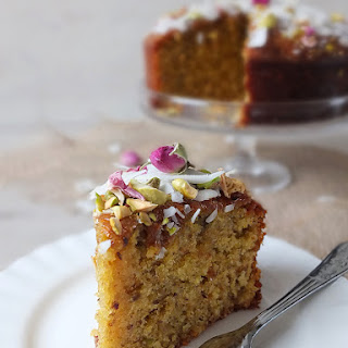 Pistachio & Coconut Cake with Rose Syrup Recipe