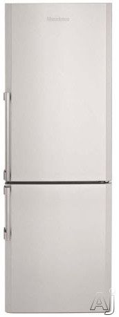 Blomberg BRFB1042X 10.6 cu. ft. Counter Depth Bottom Freezer Refrigerator with 2 Adjustable Shelves, 3 Freezer Drawers, Dual Evaporators and White LED Lighting: