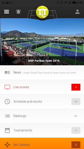 Download Tennis Temple - Live Scores on PC & Mac with
