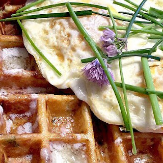 Chive, Potato, Bacon and Cheddar Waffels