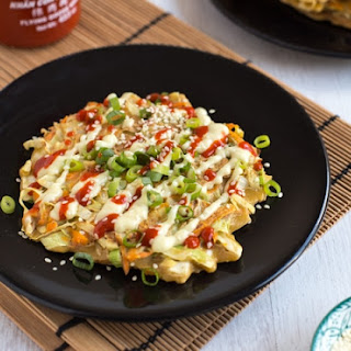 Vegetarian Okonomiyaki (Japanese Cabbage Pancakes) Recipe