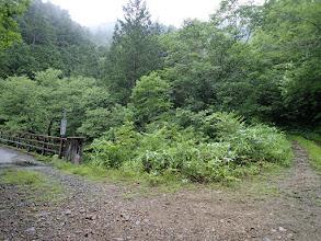 小俣谷橋分岐(左へ)