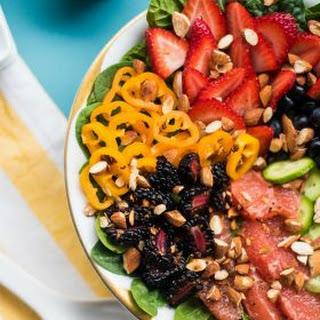 Summer Berry Almond Spinach Salad.