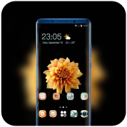 Theme for redmi6A elegant flowers wallpaper icon