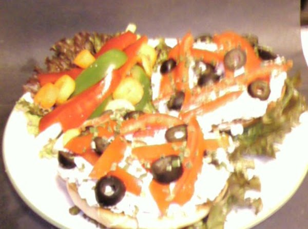 Za'atar Cream Cheese Spread And Tomato Fillets On A Bagel Recipe