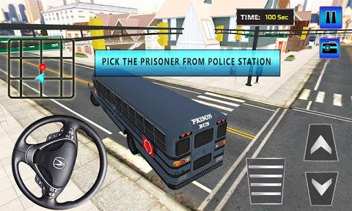 Police Bus Criminals Transport