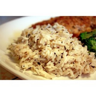 Rice with Herbes de Provence.