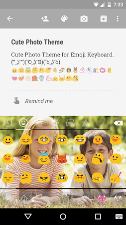 Cute Photo Emoji Keyboard Free 3.0.1 screenshot 315743