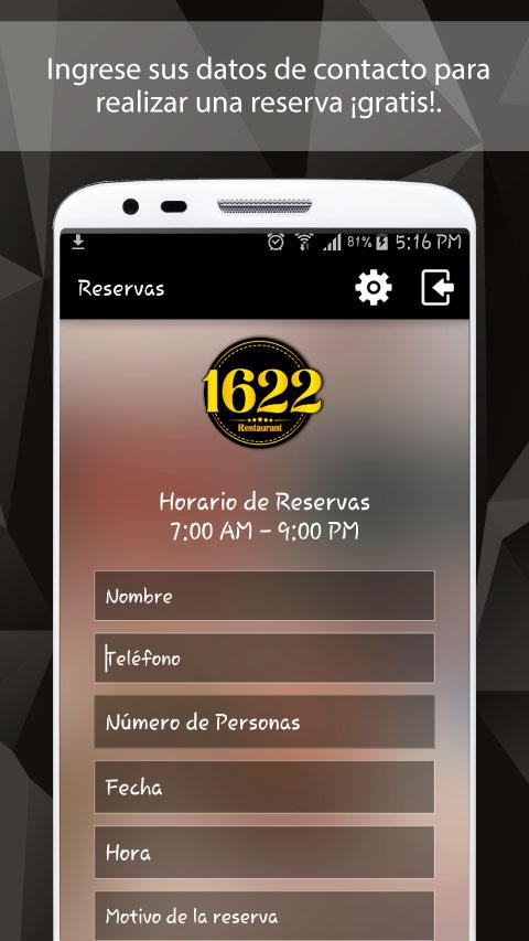 Restaurante 1622 y Skybar- screenshot