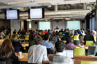 Photo: Bay area nonprofits attend training on Google Apps and Analytics provided by HandsOn Tech Silicon Valley, at the Google Mountain View campus.