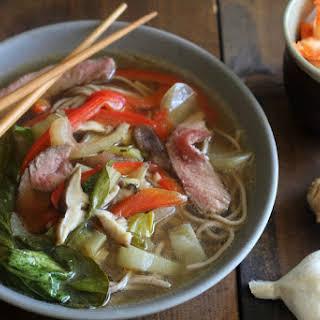 Asian Beef Noodle Soup.