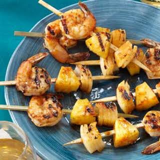 Grilled Shrimp Appetizer Kabobs.
