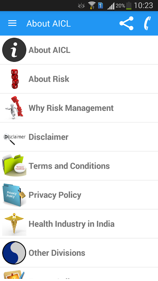 AICL Risk Management- screenshot