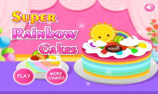 スーパー虹のケーキ