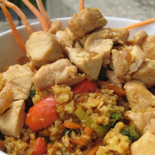 Millet Stir Fry with Chicken and Vegetables.