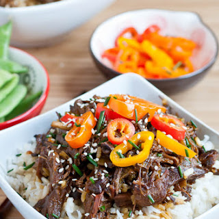 Slow Cooker Asian Beef Bowls.