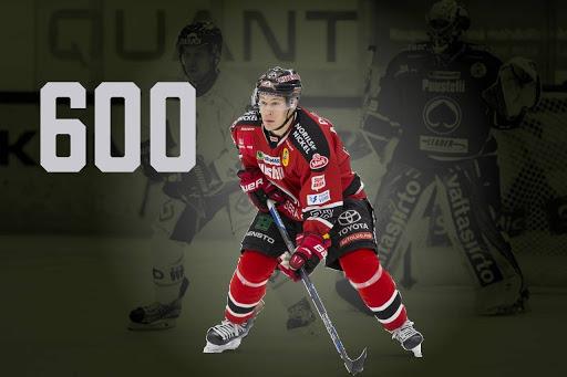 Jyri Marttinen pelaa keskiviikkona uran 600. Liigaottelun