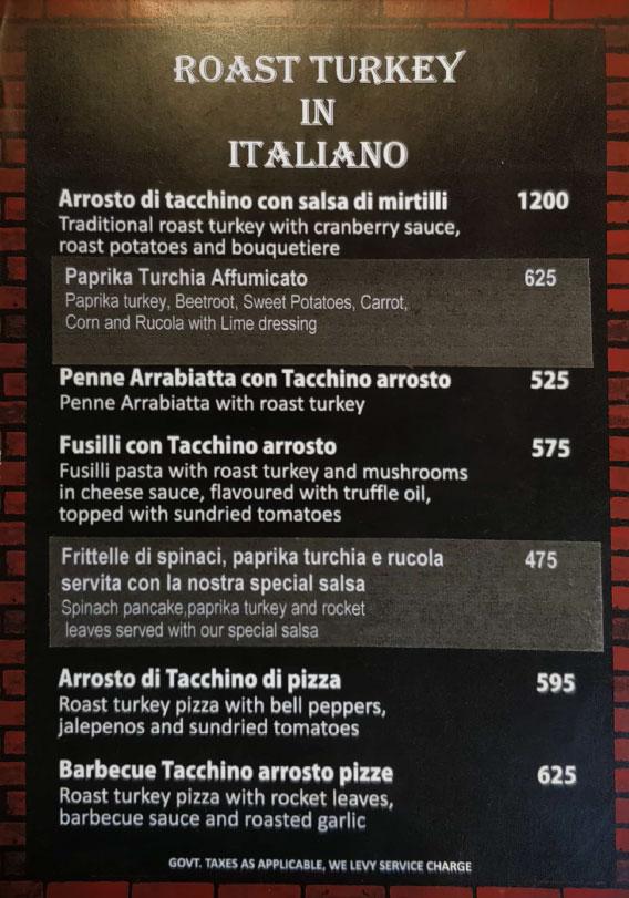 Italiano menu 1