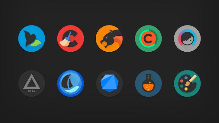 PIXELATION - Dark Pixel-inspired icons Screenshot Image