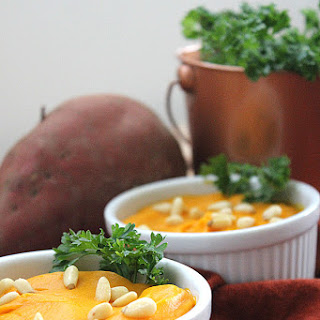 Pureed Yams with Ginger and Pine Nuts