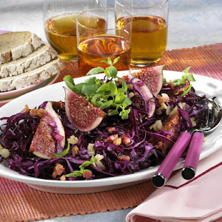 Red Cabbage Bacon and Fig Salad.