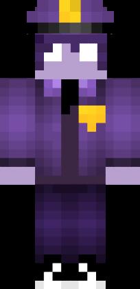 майнкрафт скин фиолетового парня #6