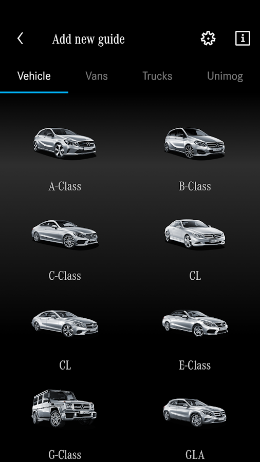 Mercedes-Benz Guides – Screenshot