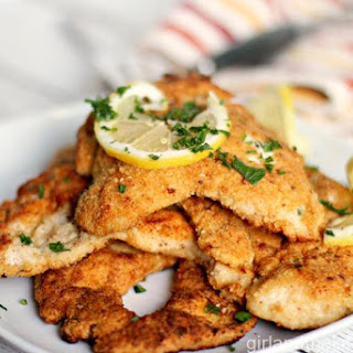 Matzo Breaded Crispy Chicken Breast with Lemon Recipe