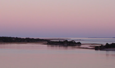 Photo: Sunset looking southeast - reflected light resulted in wonderful color...
