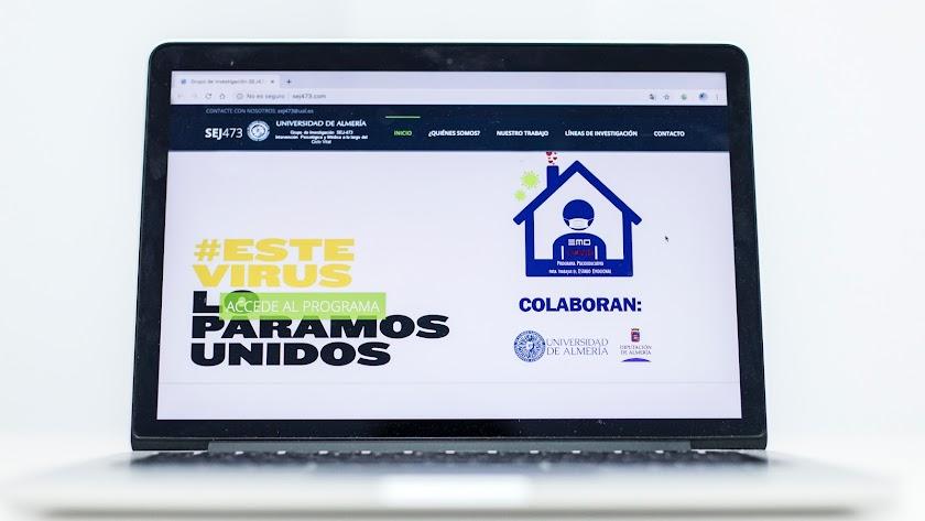 Imagen de la página inicial del proyecto 'EcoVid'.