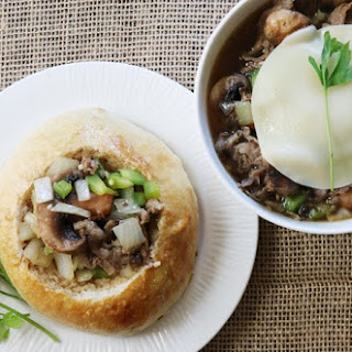Philly Cheese Steak Soup & Bread Bowl