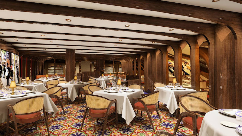 Sel de Mer, one of the new dining experiences on Holland America's Koningsdam.