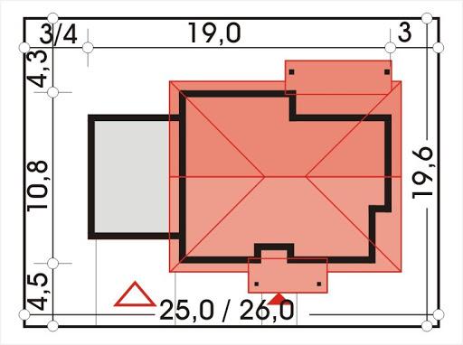Antek III wersja C z podwójnym garażem - Sytuacja