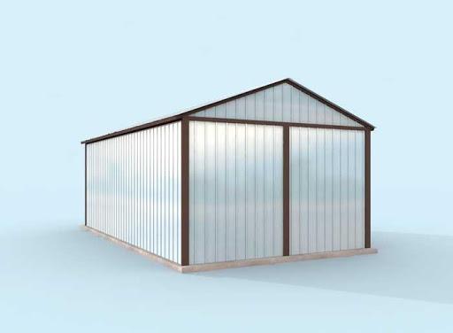 projekt GB29 Garaż Blaszany
