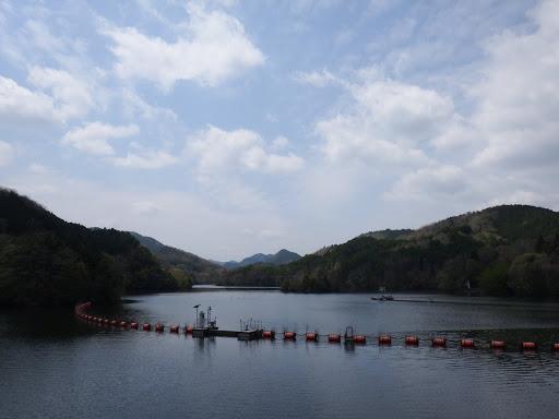 ダム湖の眺め