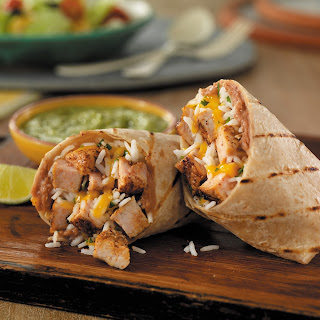 Grilled Pork Burritos with Salsa Verde.