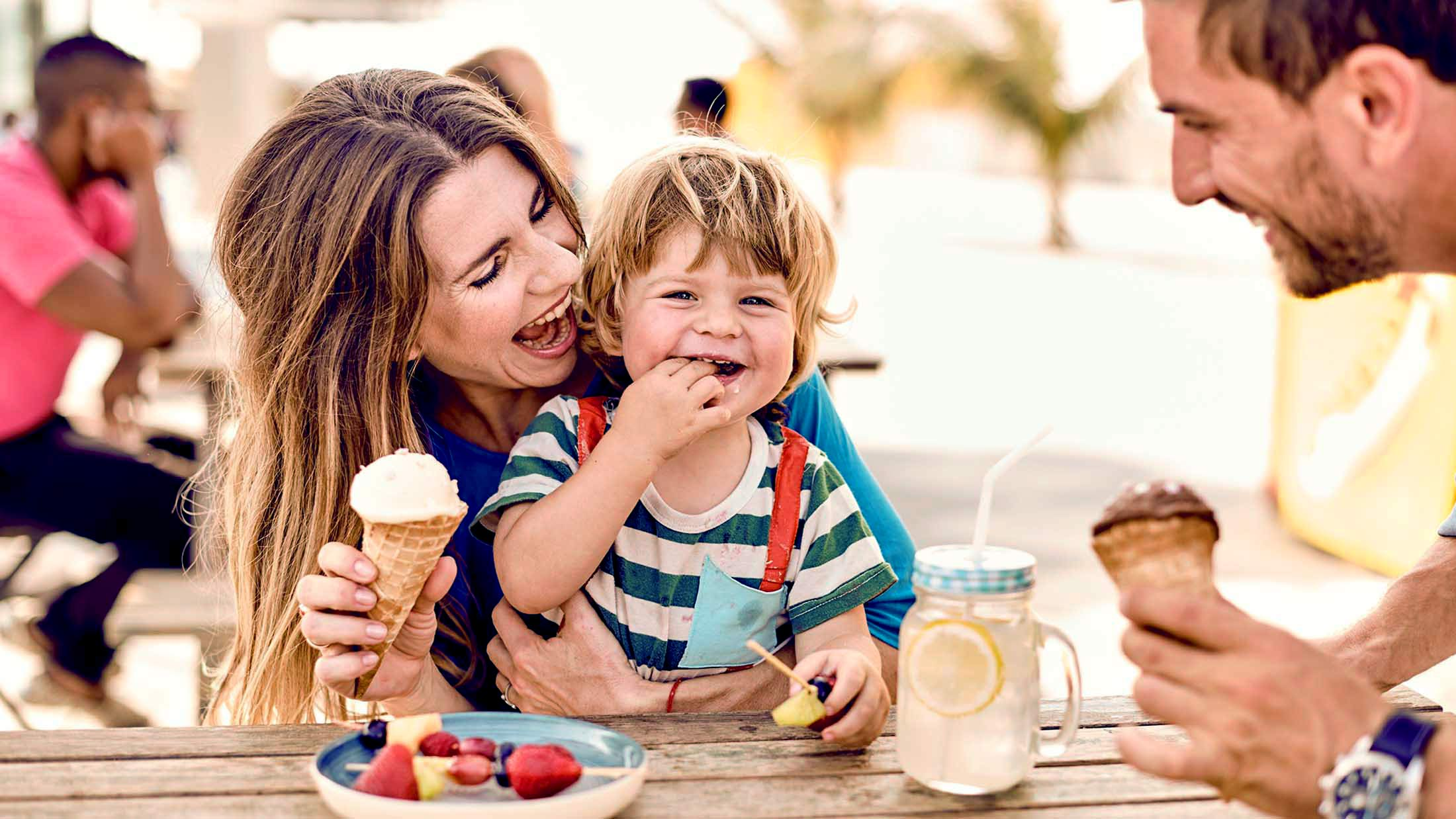 Enjoy some cool ice cream on your stop in Dubai.
