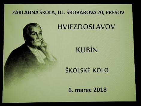 Školské kolo Hviezdoslavovho Kubína 2018