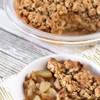 Gluten Free Vegan Chai Spiced Pear Crisp