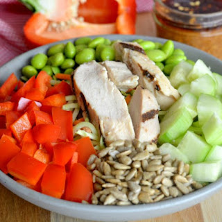 Asian Chicken Salad With Almond Ginger Dressing