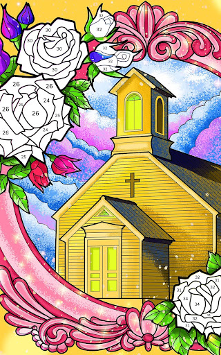 Bible Coloring - Paint by Number, Free Bible Games 2.5.3 screenshots 15