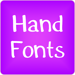 Hand fonts for FlipFont free 10.1 by Free Font Themes logo