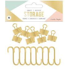 Crate Paper Wire System Hooks 16/Pkg - Gold UTGÅENDE